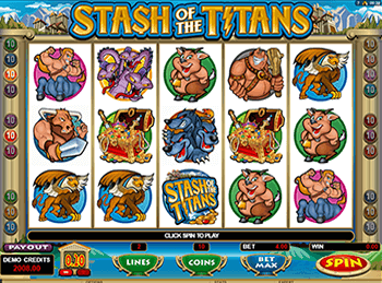 Stash Of The Titans в клубе Вулкан